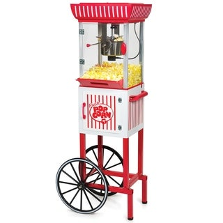 nostalgia ccp399 48inch tall vintage collection 25 oz kettle popcorn cart