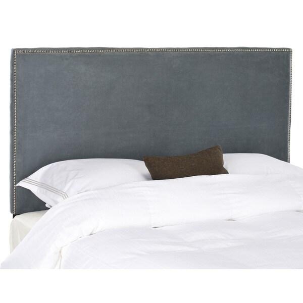 Safavieh Sydney Grey Upholstered Headboard - Silver Nailhead