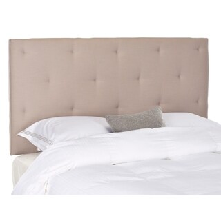 Safavieh Martin Taupe Linen Upholstered Tufted Headboard