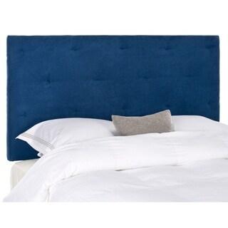 Safavieh Martin Navy Blue Velvet Upholstered Tufted Headboard