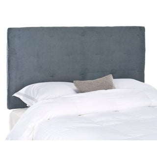 Safavieh Martin Grey Velvet Upholstered Tufted Headboard