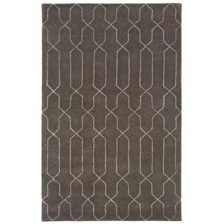 Hand-tufted Grey/ Beige Wool Area Rug