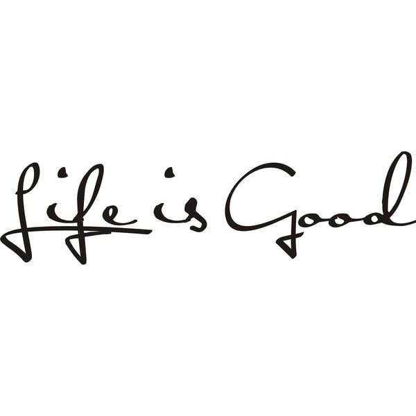 Design on Style 'Life is Good' Vinyl Art Quote