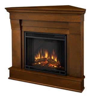 Real Flame Chateau Espresso Finish 40.94 in. L x 25.28 in. W x 37.6 in. H Electric Corner Fireplace