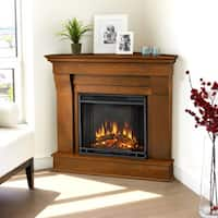 Chateau Espresso Finish Electric Corner Fireplace by Real Flame