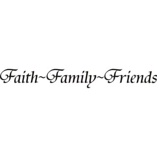 Design on Style 'Faith~Family~Friends' Vinyl Art Quote