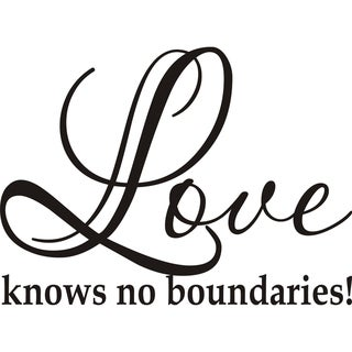Design on Style 'Love knows no boundaries' Vinyl Art Quote