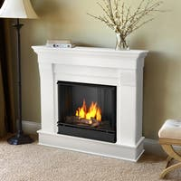 Chateau Gel Fuel Fireplace White by Real Flame