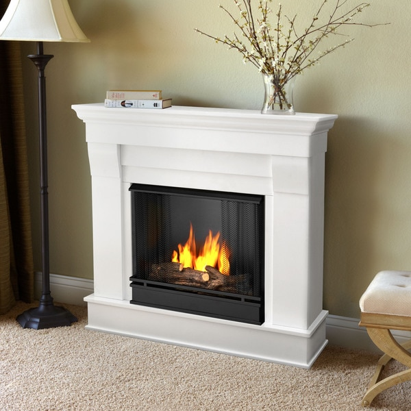 Shop Chateau Gel Fuel Fireplace White By Real Flame Free Shipping