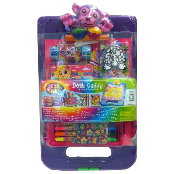Lisa Frank Desk Caddy with Monkey Clip