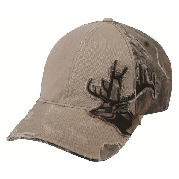 Elk Frayed Camo Patch Adjustable Hat