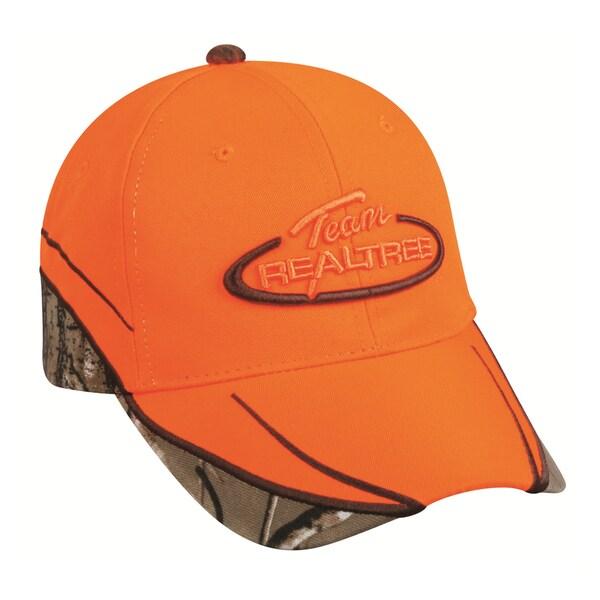 Team Realtree Blaze Orange Adjustable Hat