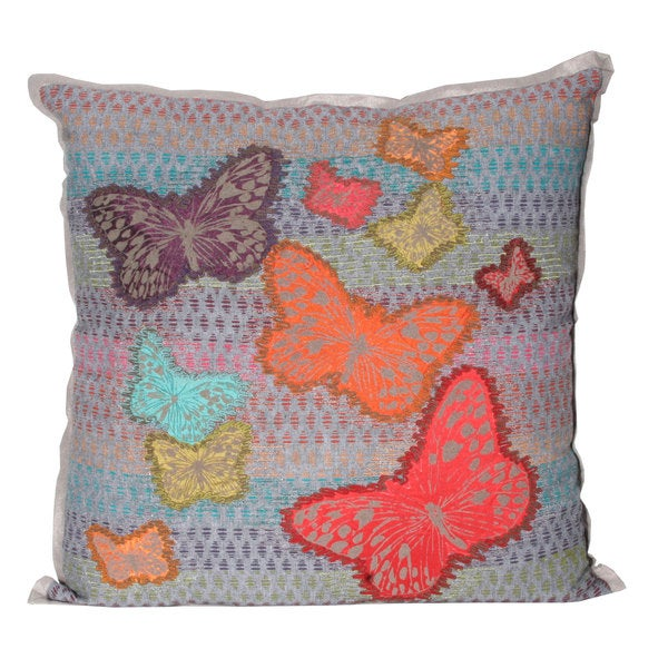Marlo Lorenz Bonita Butterfly 17-inch Decorative Pillow