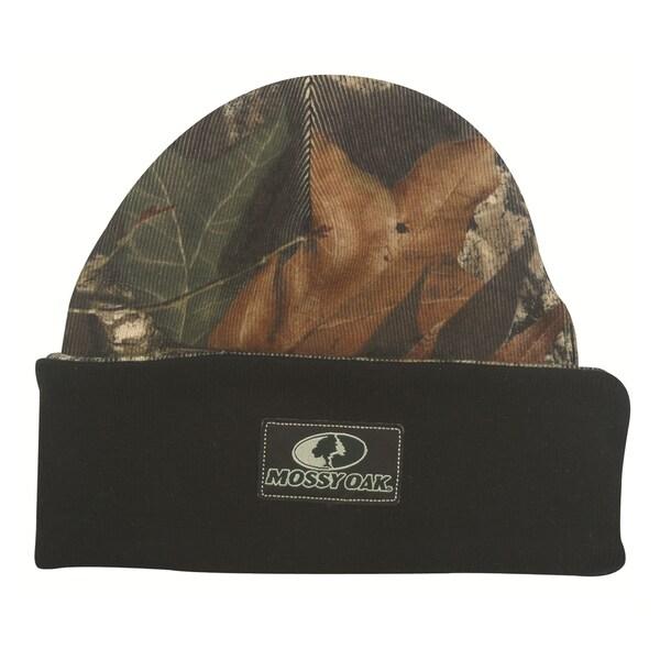 Mossy Oak Knit Reversible Camo Blaze Winter Hat