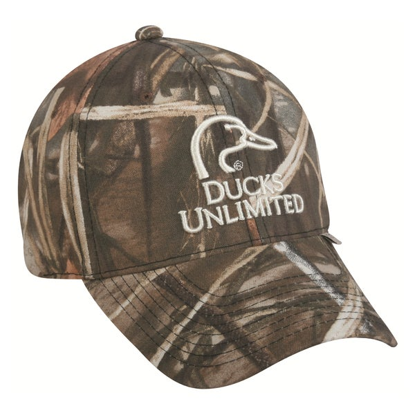 Ducks Unlimited Camo Signature Adjustable Hat