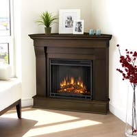 Real Flame Chateau Corner Electric Fireplace Dk. Walnut - 38 x 41 x 25