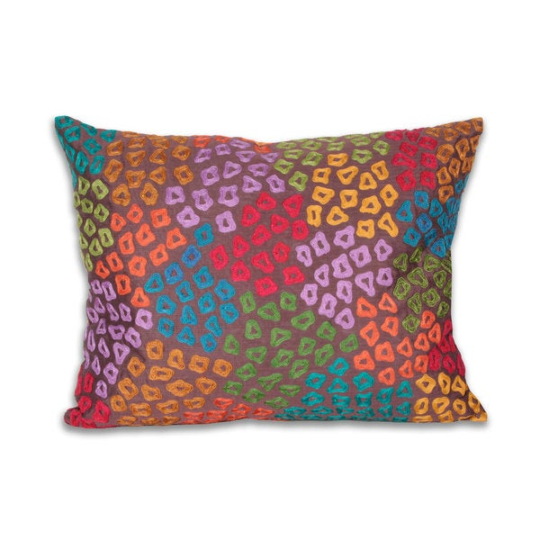 Marlo Lorenz Camara Embroidered Cheetah 20-inch Decorative Pillow