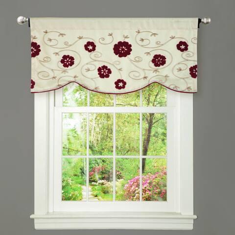 Copper Grove Halkett Red and Beige Window Valance