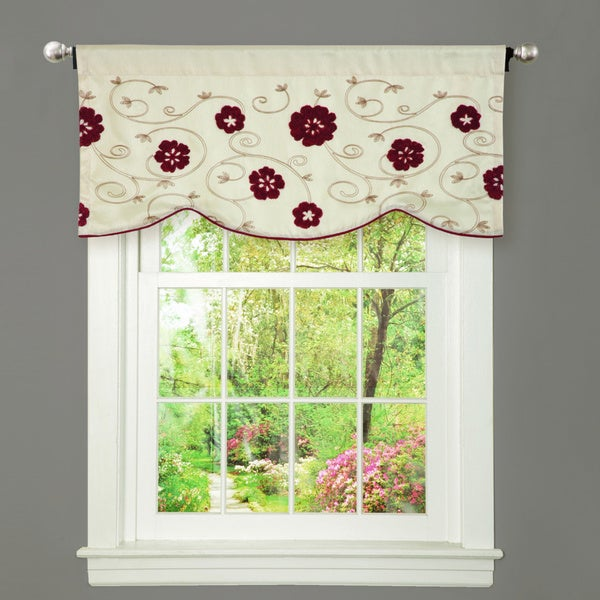 Lush Decor Royal Embrace Red Window Valance