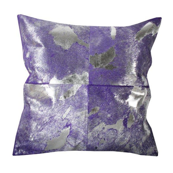 Marlo Lorenz Metallic Blackberry 16-inch Decorative Pillow