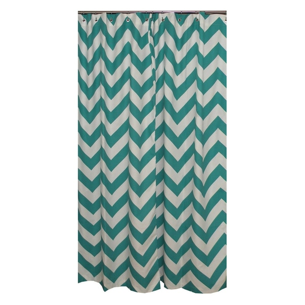 Chevron Turquoise Shower Curtain Free Shipping Today 1481