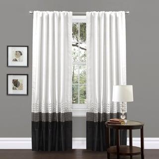 Lush Decor Mia White Pieced 84-inch Curtain Panel Pair