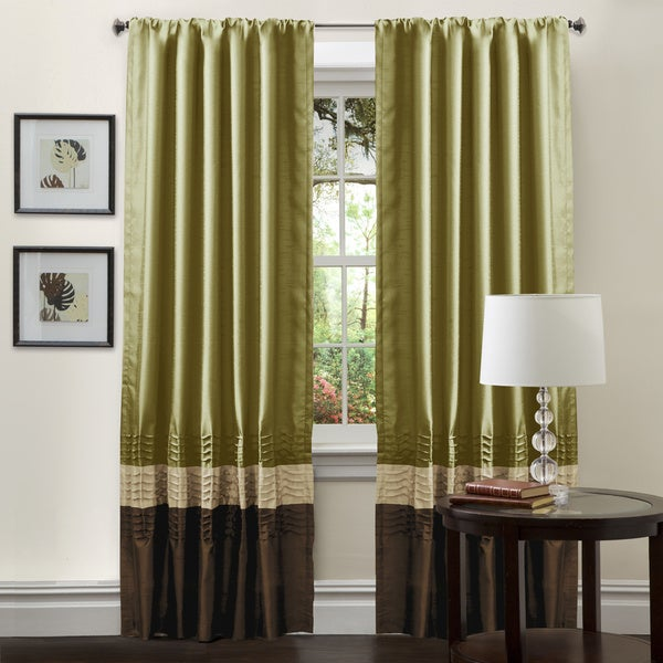 Lush Decor Mia Apple Green 84 inch Curtain Panel Pair