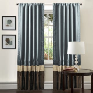 Lush Decor Mia Federal Blue 84-inch Curtain Panel Pair
