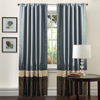 Copper Grove Mostri Blue 84-inch Curtain Panel Pair