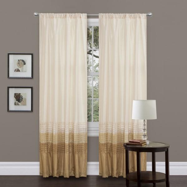 Lush Decor Mia Beige 84-inch Curtain Panel Pair