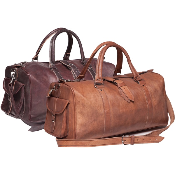 Handmade Leather Duffle Bag (Morocco) - Free Shipping Today ...