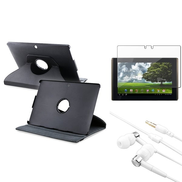 INSTEN Leather Phone Case Cover/ Screen Protector/ Headset for Asus Eee Pad Transformer