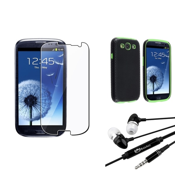 BasAcc Case/ Screen Protector/ Headset for Samsung© Galaxy SIII/ S3