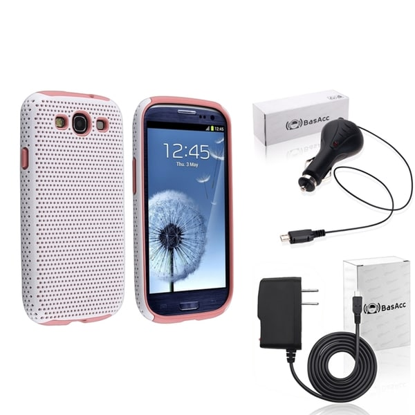 BasAcc Pink Case/ Travel/ Car Charger for Samsung Galaxy SIII/ S3