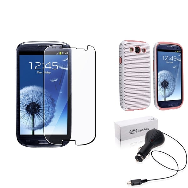 BasAcc Case/ Screen Protector/ Charger for Samsung© Galaxy SIII/ S3