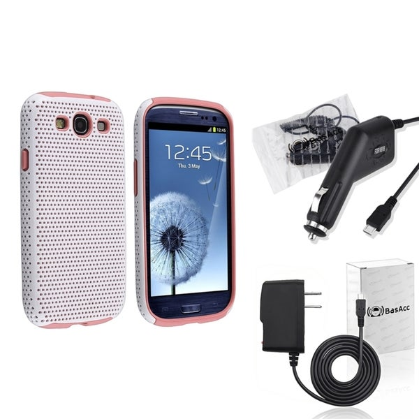 BasAcc Pink Case/ Travel/ Car Charger for Samsung© Galaxy SIII/ S3