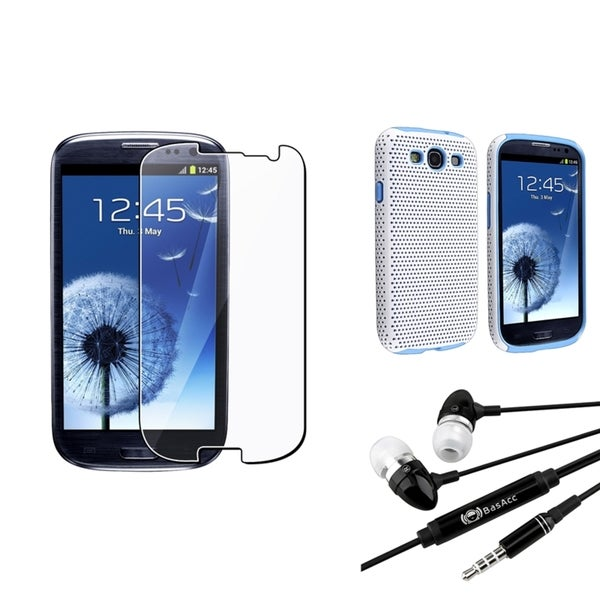 INSTEN TPU Case Cover/ Screen Protector/ Headset for Samsung Galaxy SIII/ S3