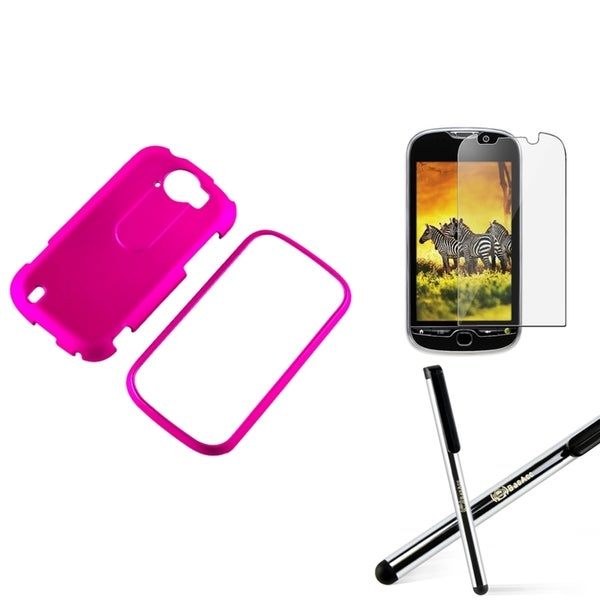 BasAcc Pink Case/ Screen Protector/ Stylus for HTC myTouch 4G Slide