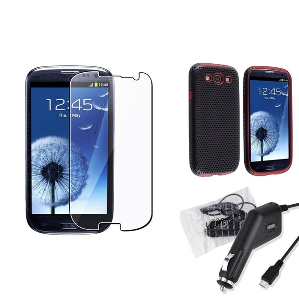 BasAcc Case/ Screen Protector/ Charger for Samsung© Galaxy S3 i9300