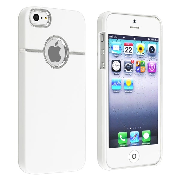 BasAcc White with Chrome Hole Rear Case for Apple iPhone 5/ 5S