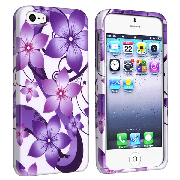 BasAcc Purple Hibiscus Flower for Apple iPhone 5