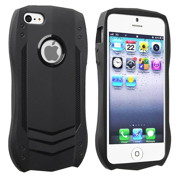 BasAcc Black Sports Car TPU Rubber Case for Apple iPhone 5