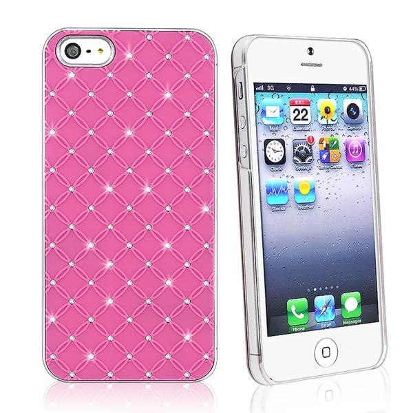 BasAcc Hot Pink Lattice Diamond Snap-on Case for Apple iPhone 5