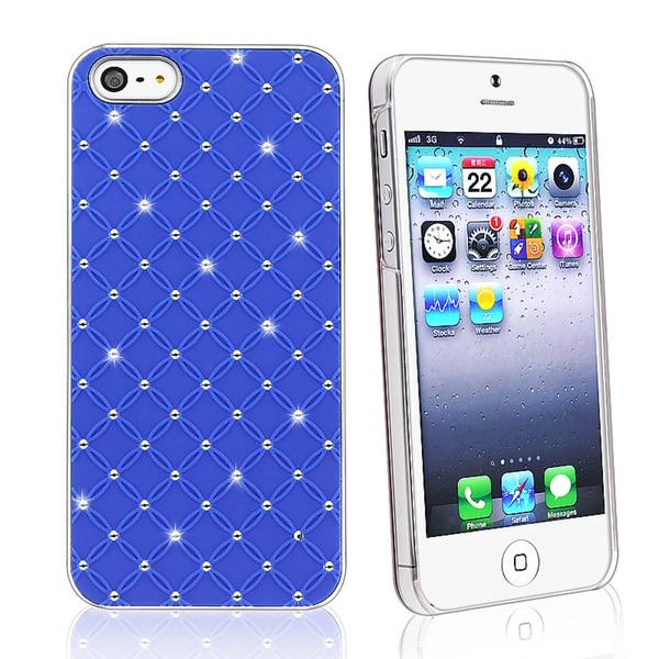 BasAcc Blue Lattice Diamond Snap-on Case for Apple iPhone 5