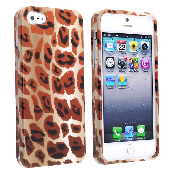 BasAcc Giraffe/ Leopard Spots Snap-on Case for Apple iPhone 5