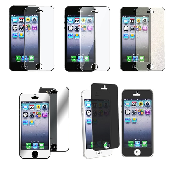 Insten Privacy Filter/ Clear/ Anti-glare/ Mirror/ Colorful Diamond Screen Protector for Apple iPhone 5/ 5S/ 5C