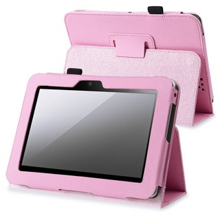 INSTEN Pink Leather Phone Case Cover with Stand for Amazon Kindle Fire HD 7-inch
