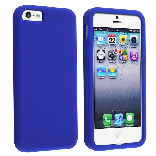 BasAcc Dark Blue Silicone Case for Apple iPhone 5/ 5S