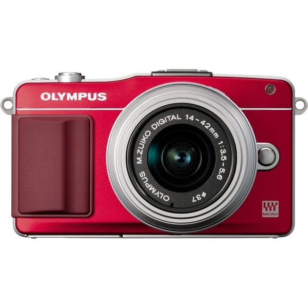 Olympus PEN E-PM2 16.1 Megapixel Mirrorless Camera - Red