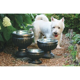 Unleashed Life Belmont Antique Bronze Resin Raised Pet Feeder